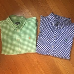 Ralph Lauren 2 Long Sleeve Shirt Bundle, Sz 14-16
